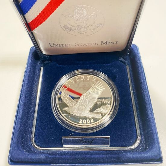 2008 Bald Eagle Silver Dollar GEM PROOF