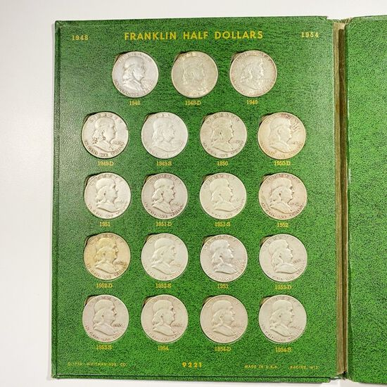 1948-1979 Franklin/Kennedy Book LOTS UNC 55 CNS