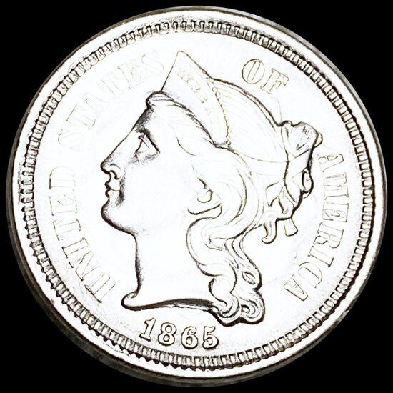 1865 Three Cent Nickel UNCIRCULATED
