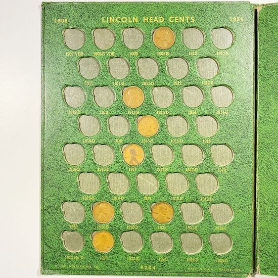 1909-1969 Lincoln Penny Book XF/AU/UNC 63 CNS