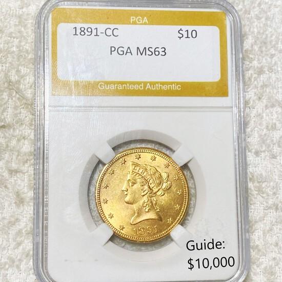 1891-CC $10 Gold Eagle PGA - MS63