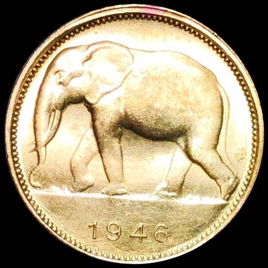1946 Belgian Congo Franc UNCIRCULATED
