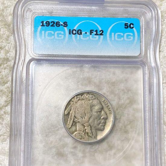 1926-S Buffalo Head Nickel ICG - F12