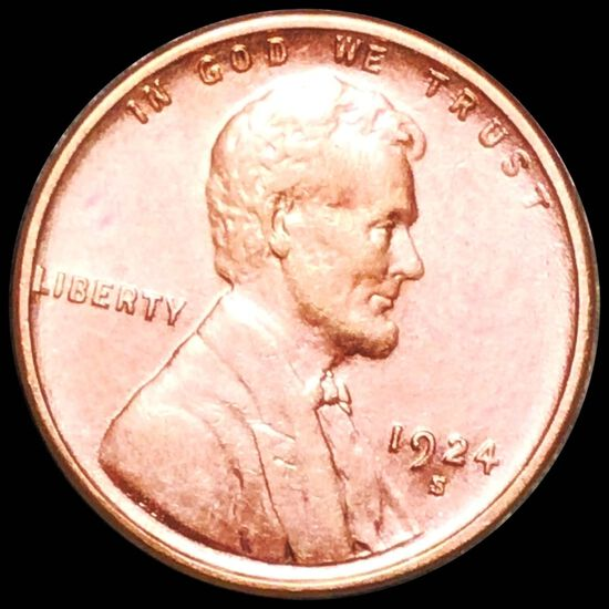 1924-S Lincoln Wheat Penny UNCIRCULATED