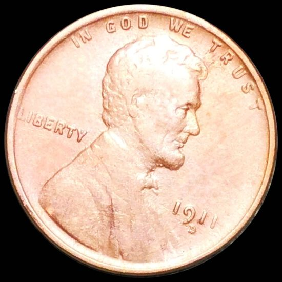 1911-D Lincoln Wheat Penny CLOSELY UNC