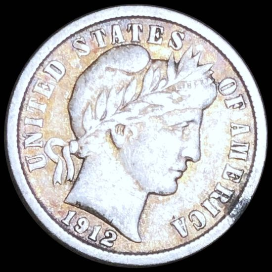 1912 Barber Silver Dime NICELY CIRCULATED