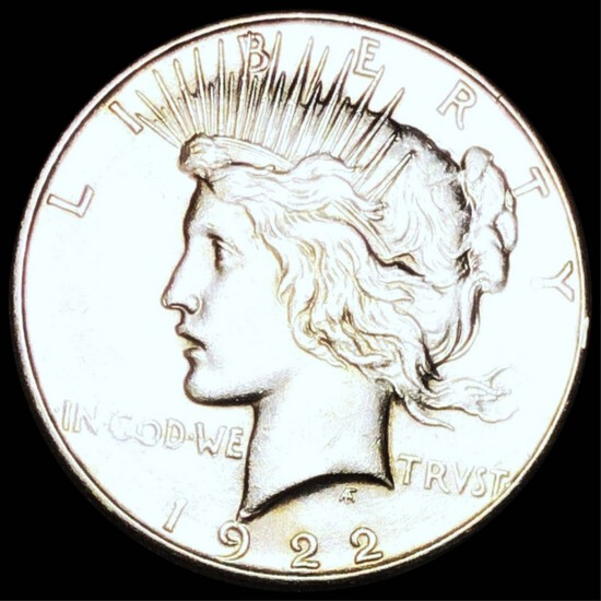 1922-S Silver Peace Dollar NEARLY UNC