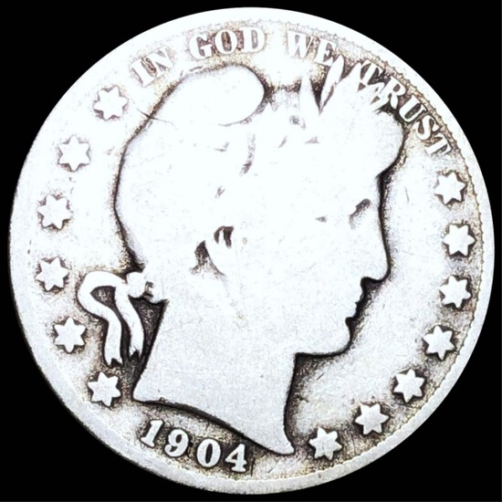 1904-S Barber Half Dollar NICELY CIRCULATED