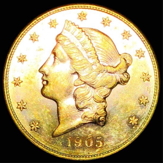 1905-S $20 Gold Double Eagle UNCIRCULATED