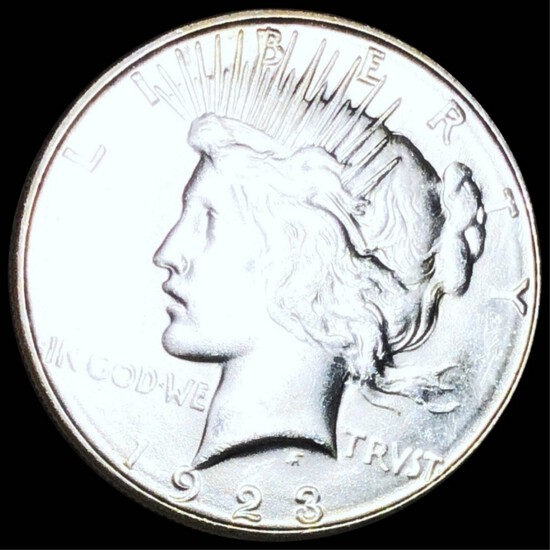 1923 Silver Peace Dollar CLOSELY UNC