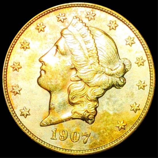 1907-S $20 Gold Double Eagle UNCIRCULATED