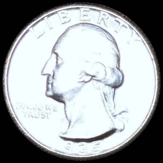 1935-S Washington Silver Quarter CHOICE BU