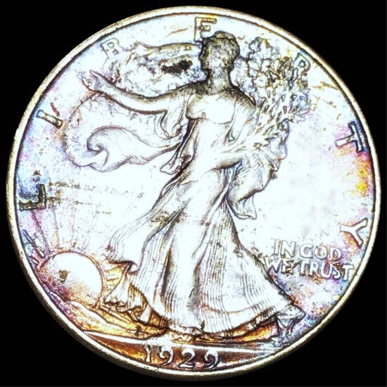 1929-D Walking Half Dollar LIGHTLY CIRCULATED