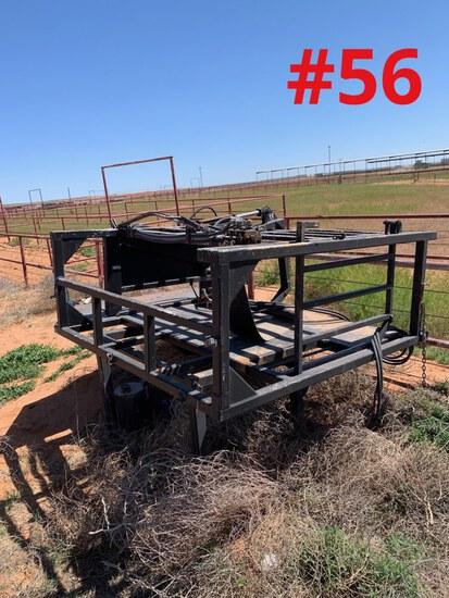 Stationary Hydraulic Hoof Trimming Chute