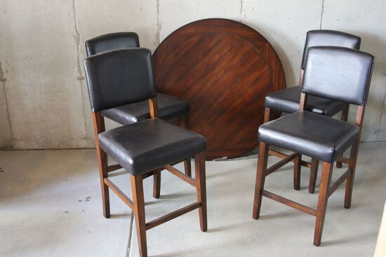 Pub Table with Four Chairs