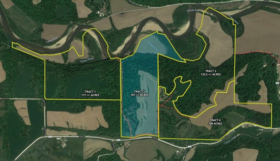 Tract 2 - 107± total acres with 53± acres tillable and 2021 approved CRP acres