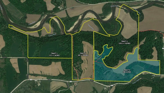 Tract 4 - 108± acres with 25± tillable