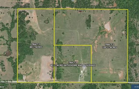Pottawatomie County OK 240 +/- Acre Land Auction