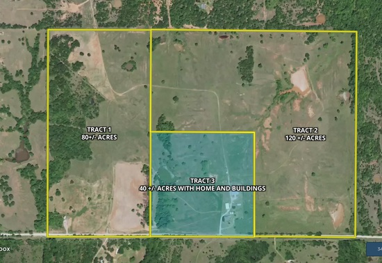 Tract 3 - 40± Acres With Home and Buildings