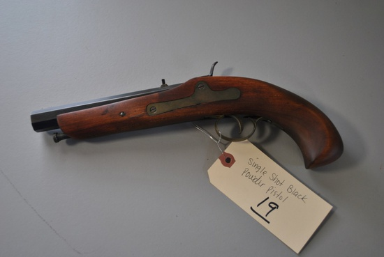 SINGLE SHOT .38CAL BLACK POWDER PISTOL