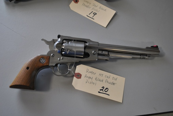 RUGER OLD ARMY .45CAL BLACK POWDER PISTOL