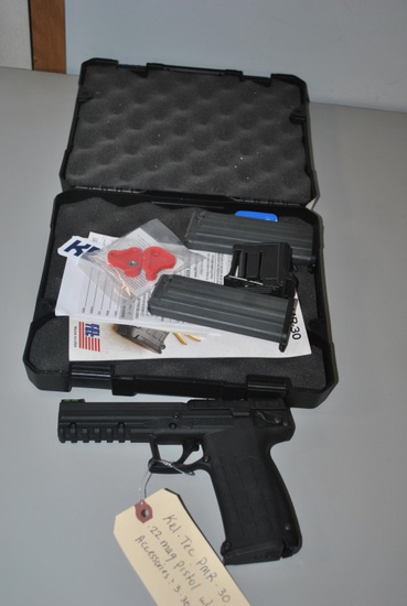 KEL-TEC PMR-30 .22MAG PISTOL W/CASE&3-30 SHOT CLIP