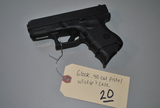 GLOCK .40CAL PISTOL W/ CASE & CLIP