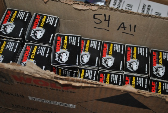 600 ROUNDS 7.62x39 AMMO- WOLF
