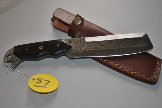 DAMASCUS KNIFE W/ SHEATH