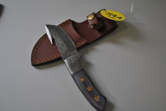 DAMASCUS GUTTING KNIFE