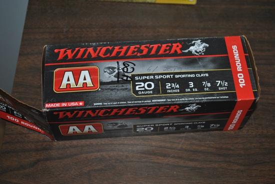 APPROX 100 RO 20GA 7 1/2 SHOT SHELLS- WIN AA