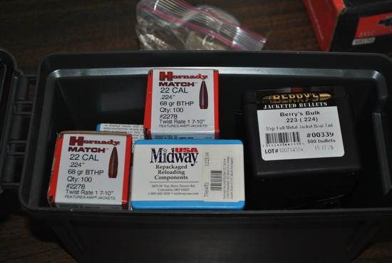 BOX ASST .22CAL RELOADING BULLETS
