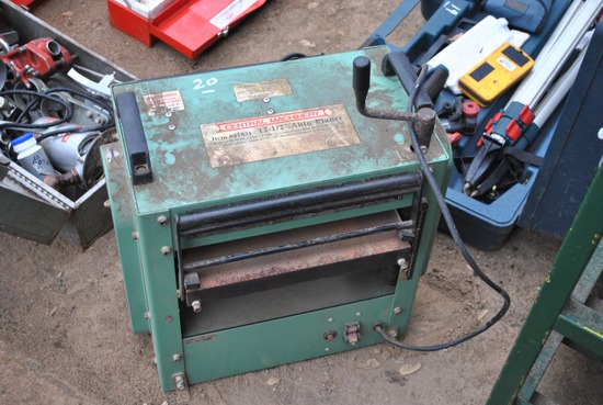 """CENTRAL MACHINERY 12 1/2"""" AUTO PLANER"""