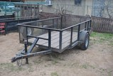 T.PULL 10FTx5FT TRLR W/ 2FT SIDES, RAMP GATE, S/A