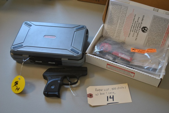 RUGER LCP .380 PISTOL W/ BOX & CASE