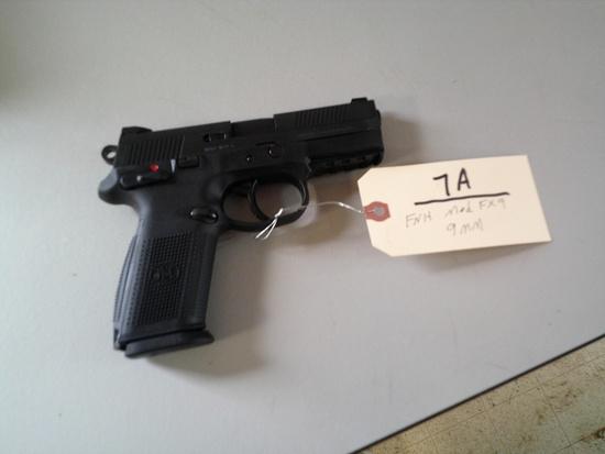 FNH MOD FX9 9MM PISTOL W/ CASE & 2 CLIPS