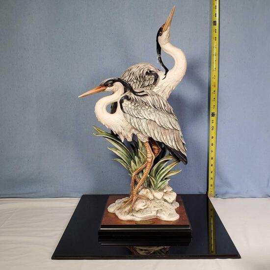 "23.5"" Giuseppe Armani ""Elegance in Nature"" Double Heron Figurine"