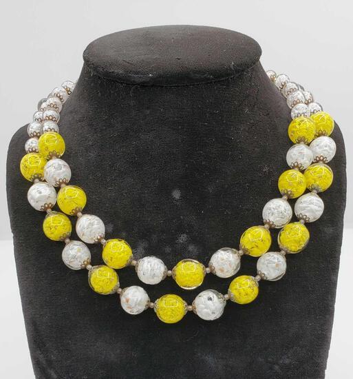 Vintage Italian Venetian Art Glass Beaded Necklace
