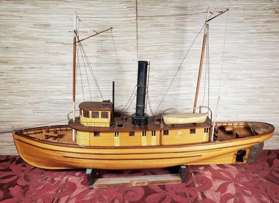 Vintage Remote Control Seguin Replica Tugboat Model