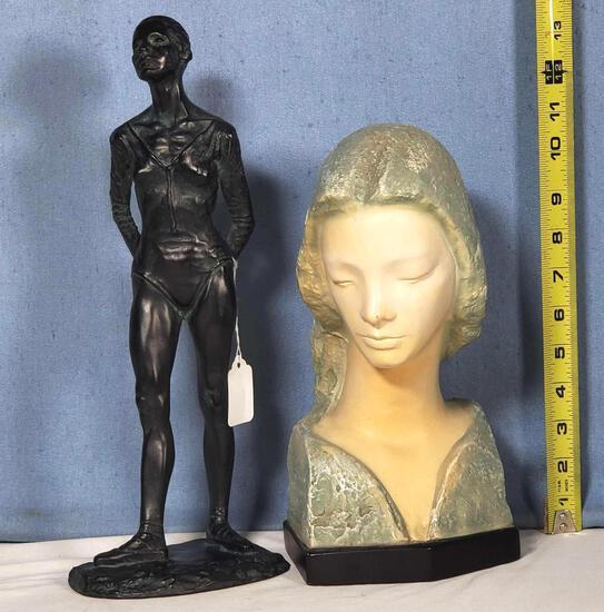 V. Glinsky Madonna Bust & Anthony Cipriano Ballet Dancer Figurines
