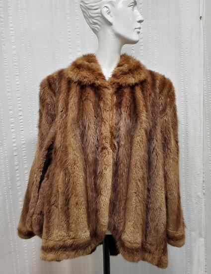 1940's Short Mink Fur Cape