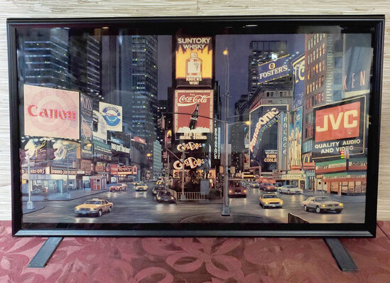 3-D Light Picture of Time Square