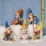 5 Goebel Co-Boy Figurines - Toni, Robby, Petri, Plum and Candy