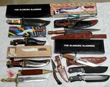10 Hunting, Fighting and Sheath Knives and Scabbards, Many with Original Boxes