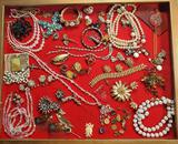Case Lot Of Vintage Costume, Sterling and Gold Filled Jewelry