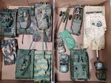 2 Flats of 14 Die Cast, Plastic and Built Out Replica Model Military Tank and other Vehicles