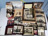 Case lot of Ephemera - Vintage Golf and School photos, Victorian, 1920s Letters and More