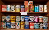 30 Misc Vintage One Quart Oil Cans and Fran Oil Filter Box