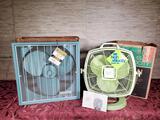 2 Vintage Floor Fans in Orig. Boxes