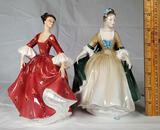 2 Royal Doulton Lady Figurines- Elegance HN 2264, Stephanie HN 2811